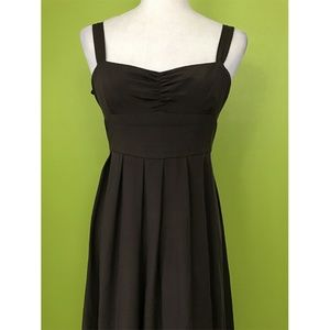 J. Crew Empire Waist Pleat Long Formal Dress 2P